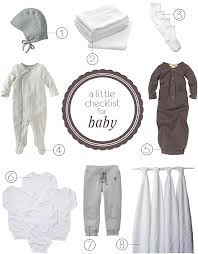 Shopping List For New Baby